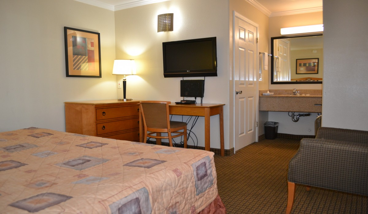 Travel Inn rooms feature flatscreen TVs and fridges