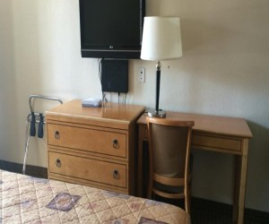 Desks and Free Wi Fi make it a great business hotel